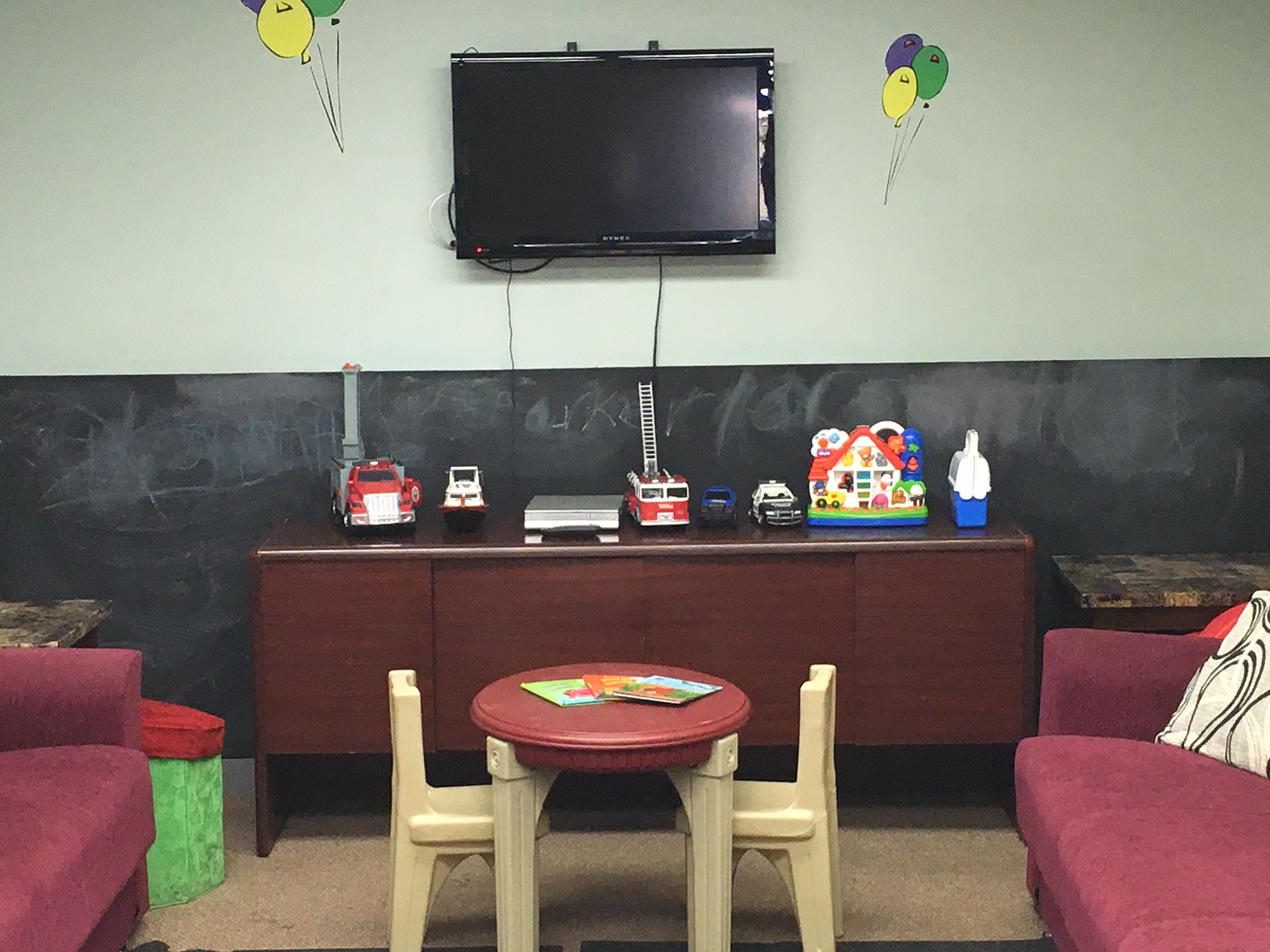Entertain The Kids While Your Wait With Our Kid's Playroom!