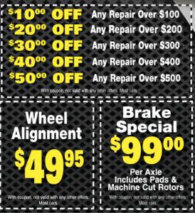 auto repair coupons